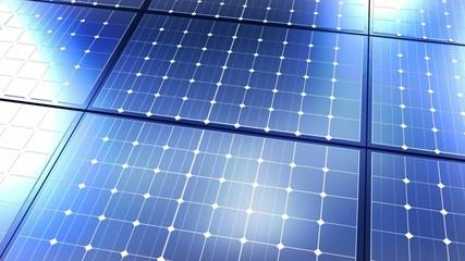 Animation panneaux solaire lignes photovoltaique bleu