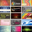 set of detailed horizontal business cards on different topics