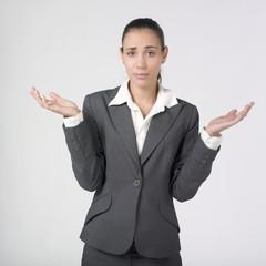 jeune femme business démunie désemparée