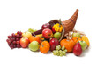 Fall cornucopia on a White back ground - 17651284