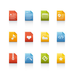 Icon Set - Document Files in Color