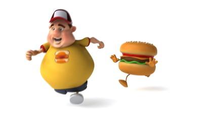 Hamburger et adolescent