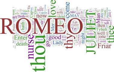 Word cloud - Romeo and Juliet
