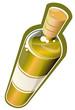 Bouteille dynamique de vin blanc