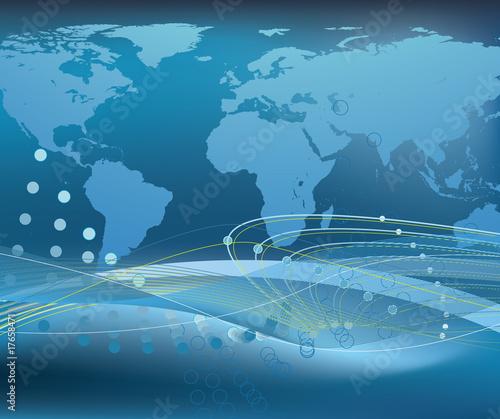 Staande foto Wereldkaart Abstract world globe design