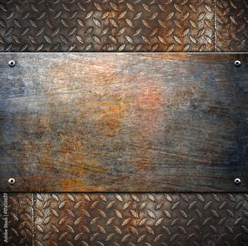 obraz PCV pattern of metal background