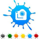 Photo  blot icon. Vector illustration poster