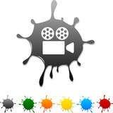 Cinema  blot icon. Vector illustration poster