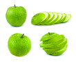 Set of green apples