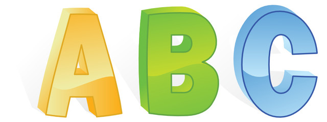 abc letters in vector mode