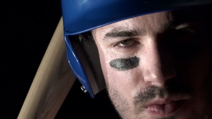 Baseball player close-up  - HD