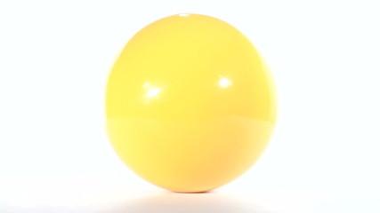 Billiard ball isolated against white loop - HD