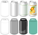 Fototapety Beverage can in different styles