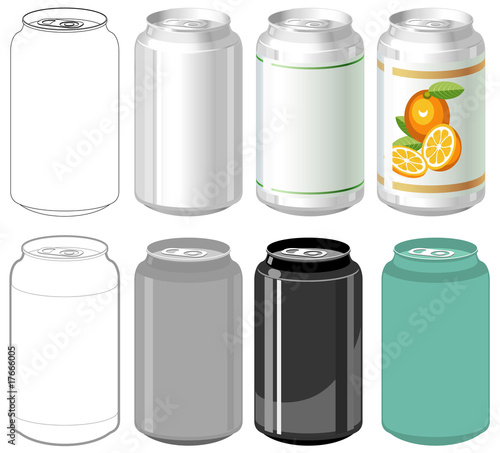 Beverage can in different styles - 17666005