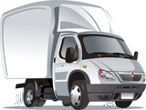 Fototapety Vector cartoon cargo truck