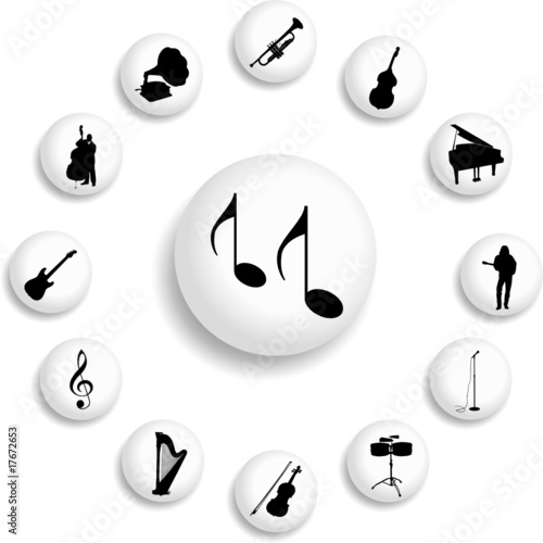 Set buttons. Music