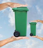 déchet augmentation poubelle volume tri sélectif ordure recyclag poster
