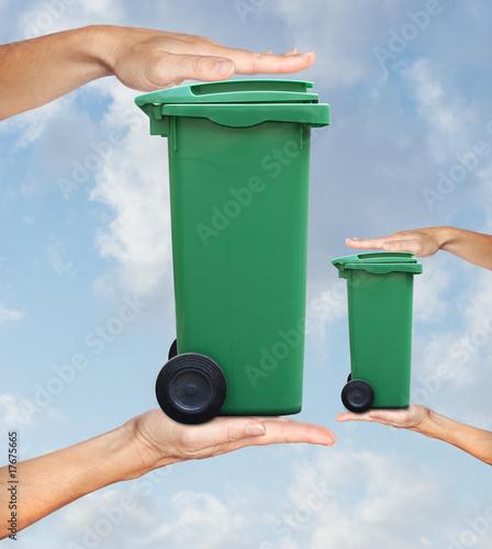 poster of déchet augmentation poubelle volume tri sélectif ordure recyclag