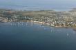 vue aerienne de Locmariaquer, du Golfe du Morbihan (56)