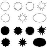 výbuchy-černá a bílá