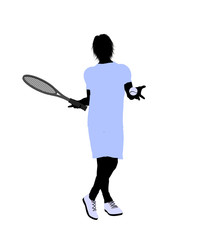 Male Tennis Player Illustration Silhouette
