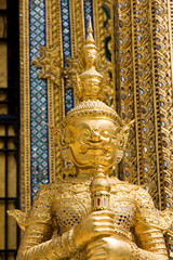 Traditional Thai sculpture in the Grand palace area in Bangkok