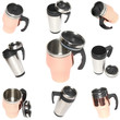 Collage(collection) of heat protection-thermos coffee mug