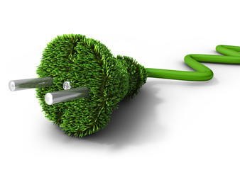 Green energy concept (3d illustration)