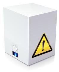 chaudière à gaz dangereuse (reflet)