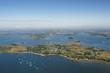 vue aerienne de lîle-d'Arz,  Golfe du Morbihan (56)