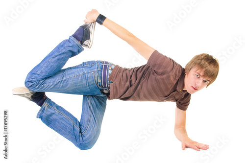 young breakdancer posing.