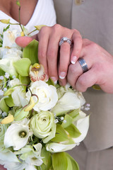 Bridal Hands And Rings