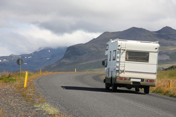 Motorhome in Iceland
