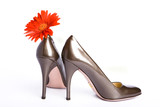 female new varnished shoes poster