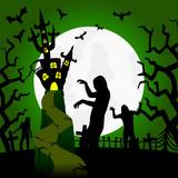 geisterhaus mit zombies (III) poster