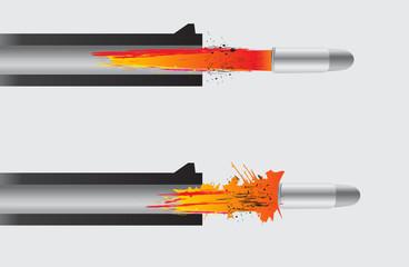 Gun firing the bullet