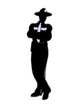 Male Police Officer Illustration Silhouette