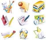 Fototapety Vector cartoon style icon set. Part 24. School