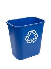 Recylce bin on a white background