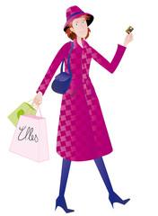 Femme qui fait du shopping