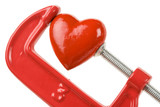 Vise Grip and red heart poster