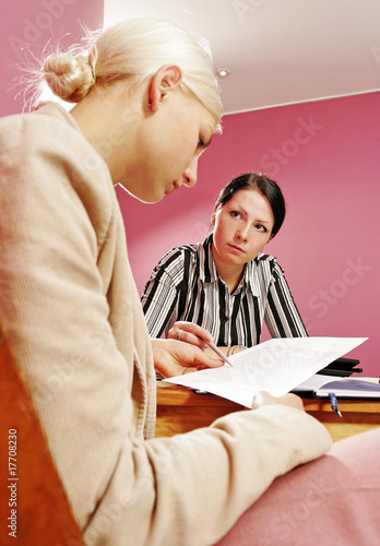 work environment- two women