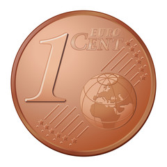 One cent as vector