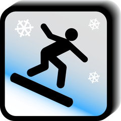 Winter sports icon vector
