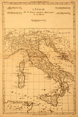Antique map of Italy printed in 1780.