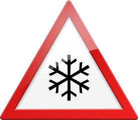Warnschild Warnung Kälte Frost