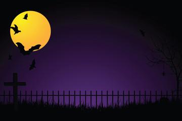 Spooky Graveyard Background