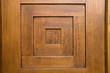 the detail of wooden door