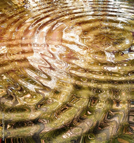 Leinwandbild Motiv Reflection of autumn forest in water