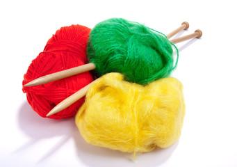 Multicoloured mohair